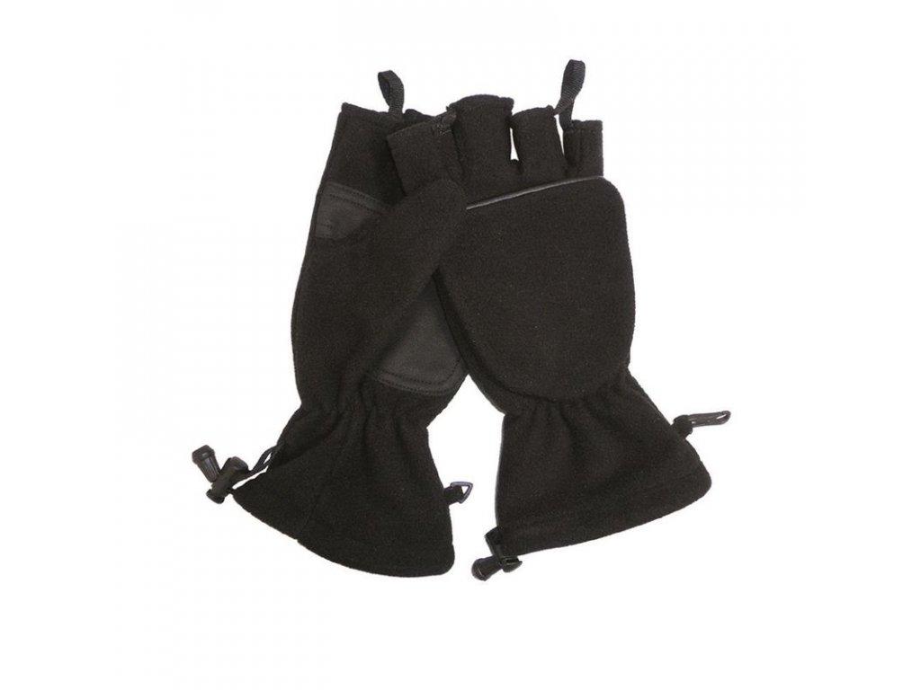 Rukavice MIL-TEC Fleece s chlopní černé
