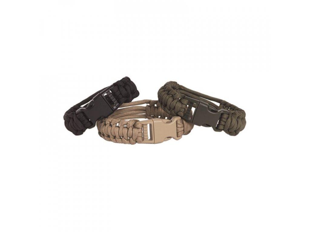 Náramek MIL-TEC na hodinky Paracord Černý