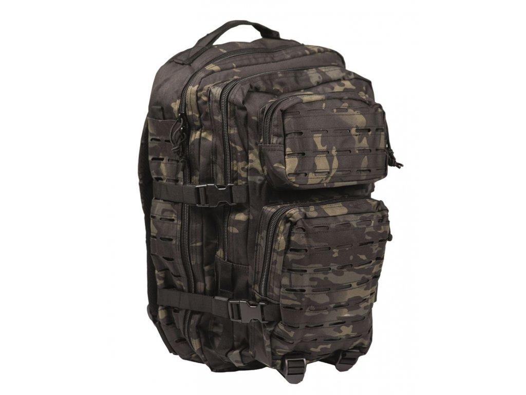 Batoh MIL TEC US Assault LASER CUT 36l Multitarn Black