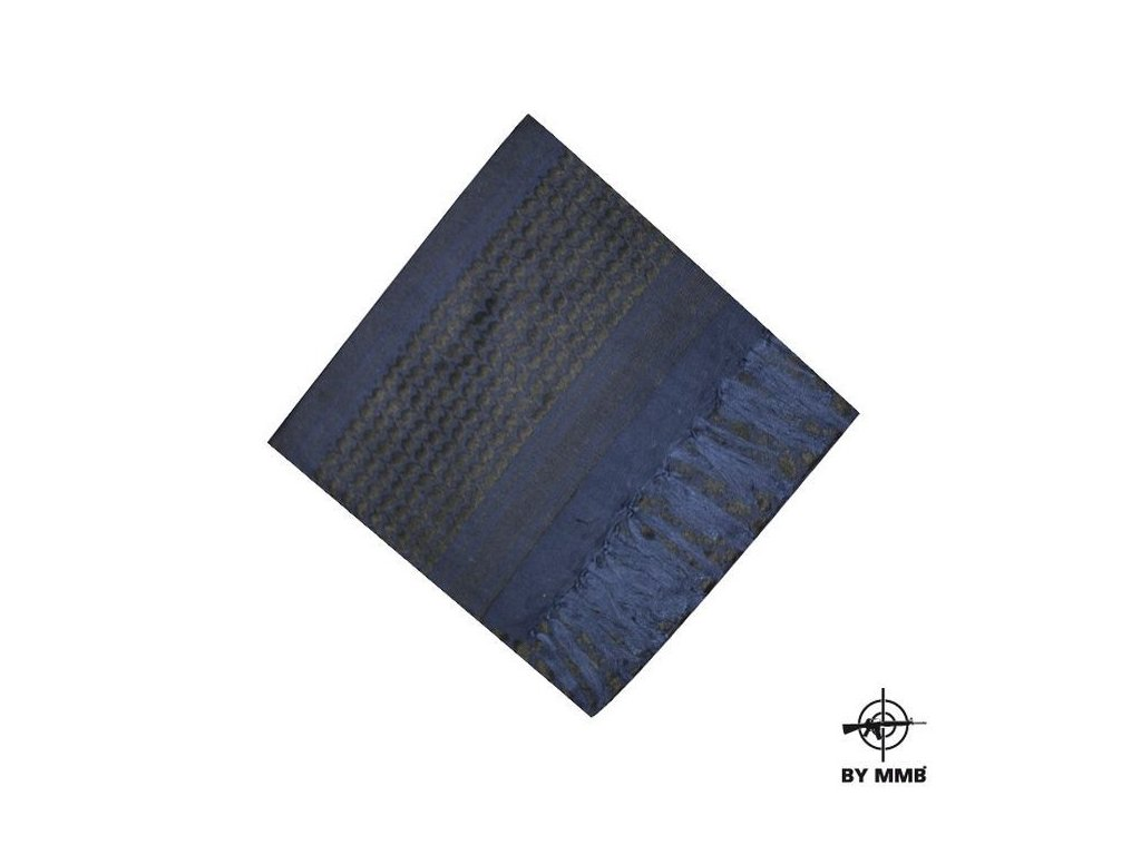 Šátek MMB SHEMAGH  Modrá/Černá