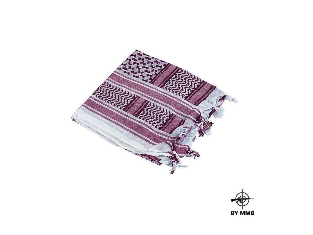 Šátek MMB SHEMAGH Lila/Bílá
