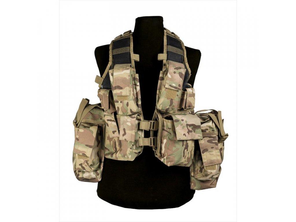 Taktická vesta MIL-TEC 12 kapes Multitarn Camo
