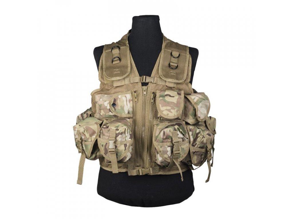 Taktická vesta MIL-TEC 9 kapes Multitarn Camo