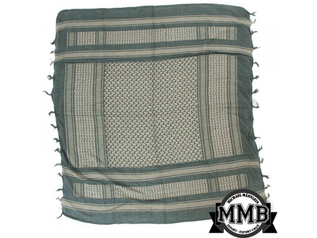 Šátek MMB SHEMAGH Petrol/Bílá