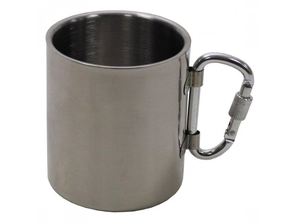hrnek nerez dvouplastovy 300 ml s karabinou max fuchs