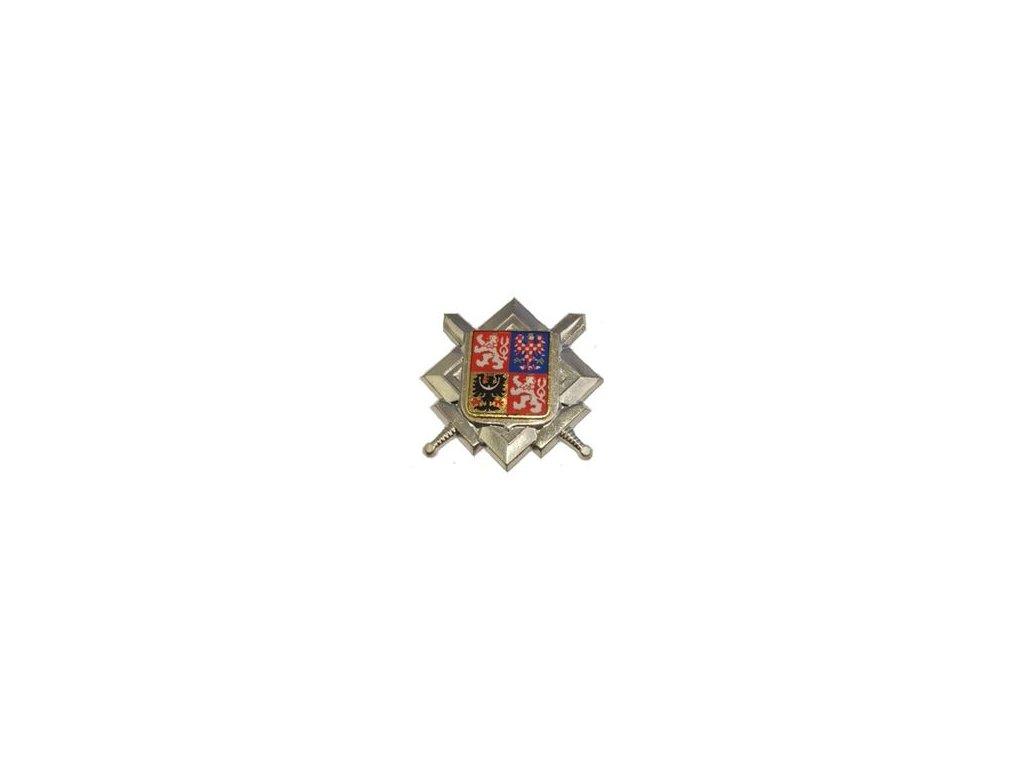 Odznak AČR na čepici smaltovaný stříbřitý