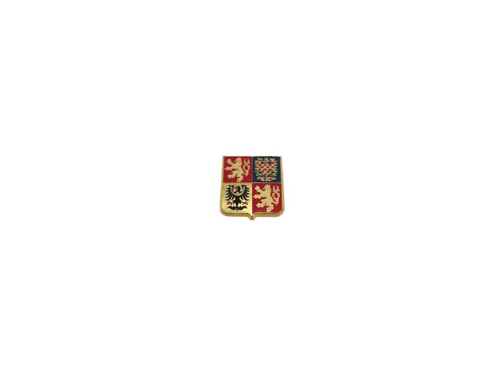Odznak AČR na čepici smaltovaný zlatový malý