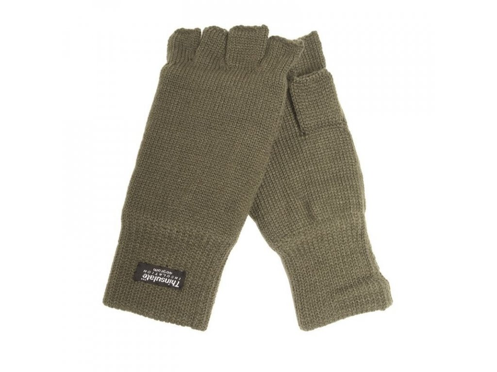 Rukavice MIL-TEC pletené Thinsulate bez prstů Olive