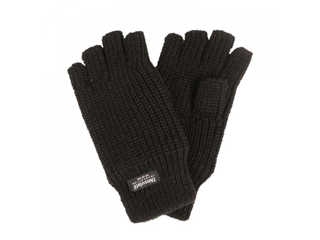 Rukavice MIL-TEC pletené Thinsulate bez prstů Černé