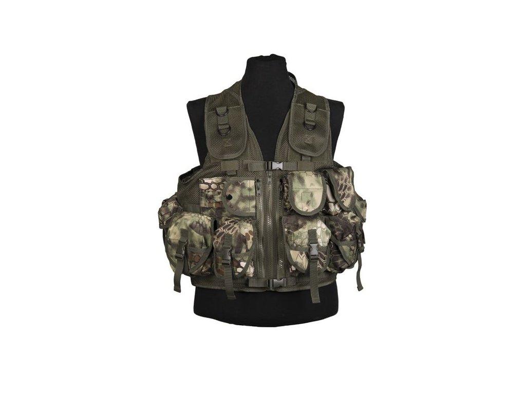 Taktická vesta MIL-TEC 9 kapes Mandra wood