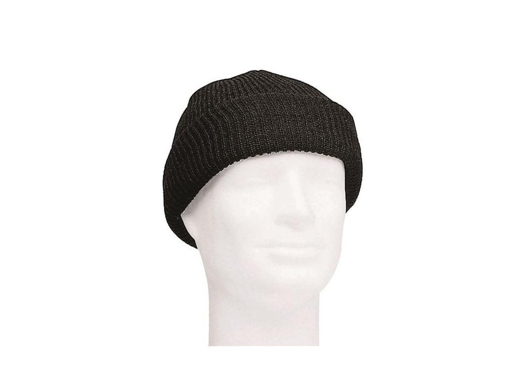 Čepice MIL-TEC pletená Černá - vlněná