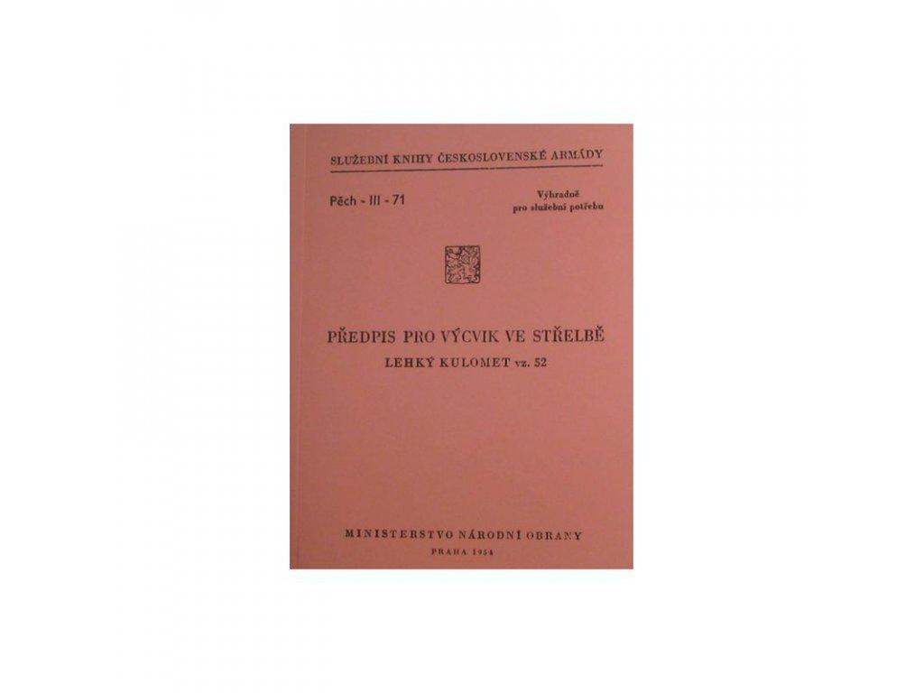 Předpis pro Výcvik ve střelbě kulomet vz. 52