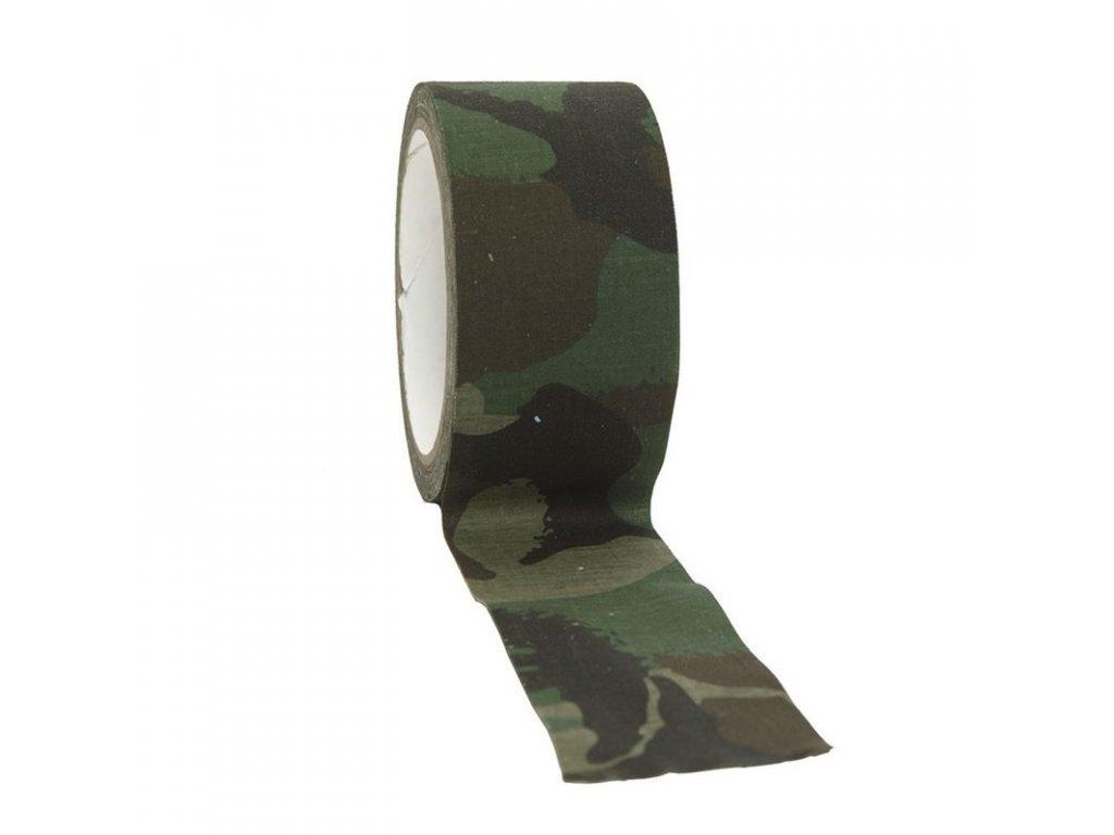 Textilní lepící páska MIL-TEC Woodland 10M