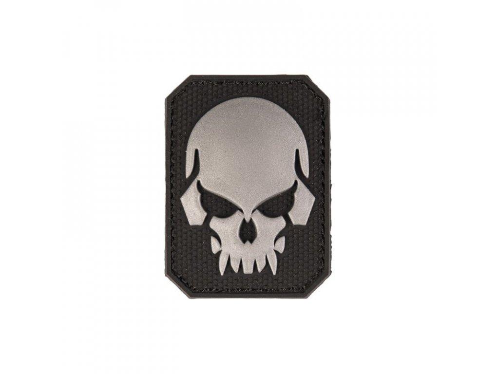 Nášivka MIL-TEC lebka Black malá Velcro