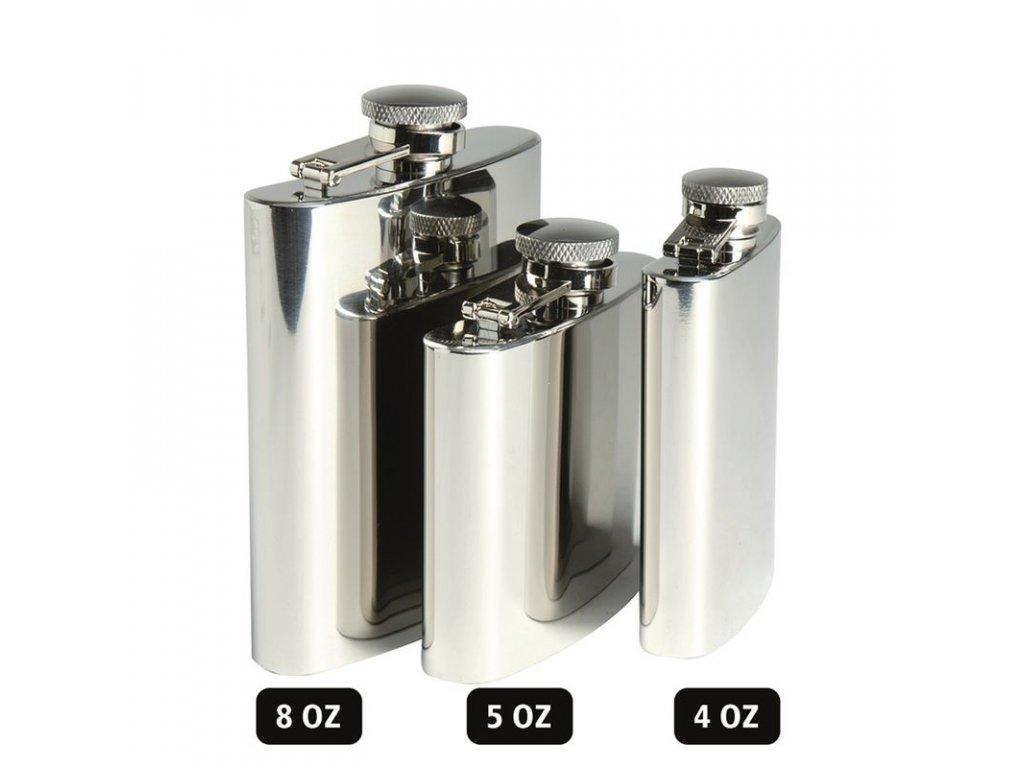 Likérka MIL-TEC leštěná nerez 8OZ 220 ml