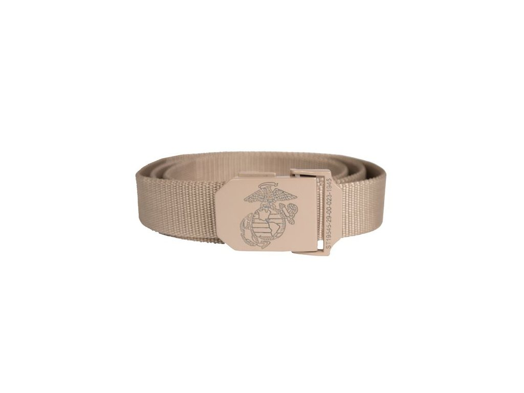 Pásek do kalhot MIL-TEC USMC Khaki