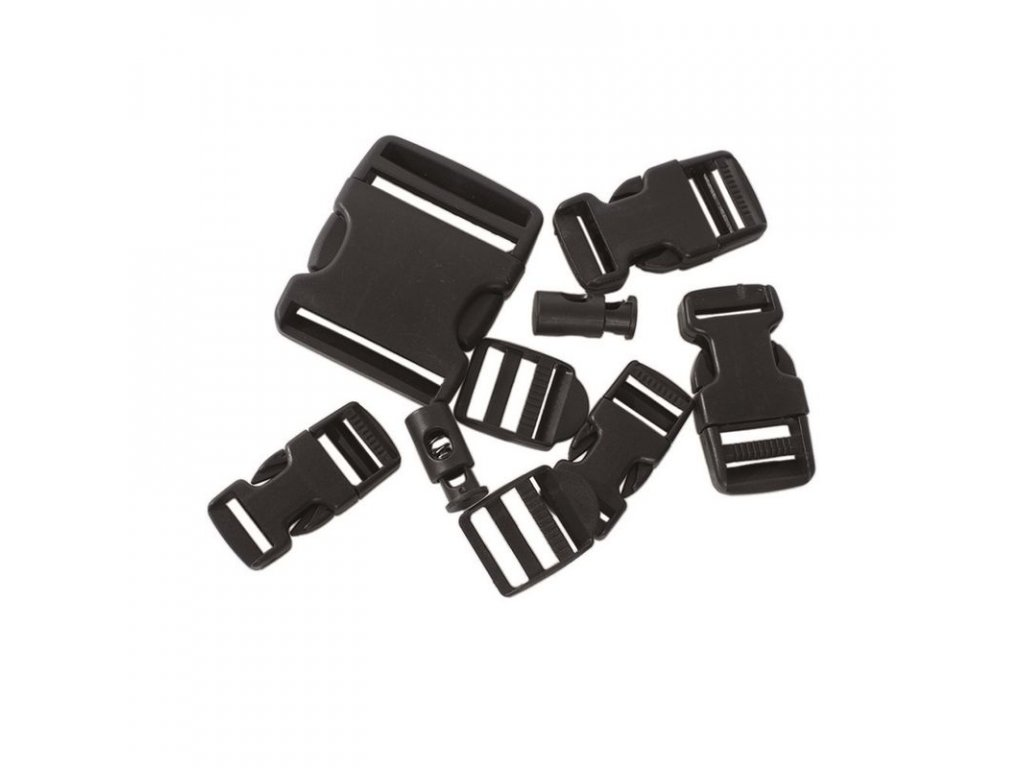 Přezka na batoh MIL-TEC - sada 9ks Black