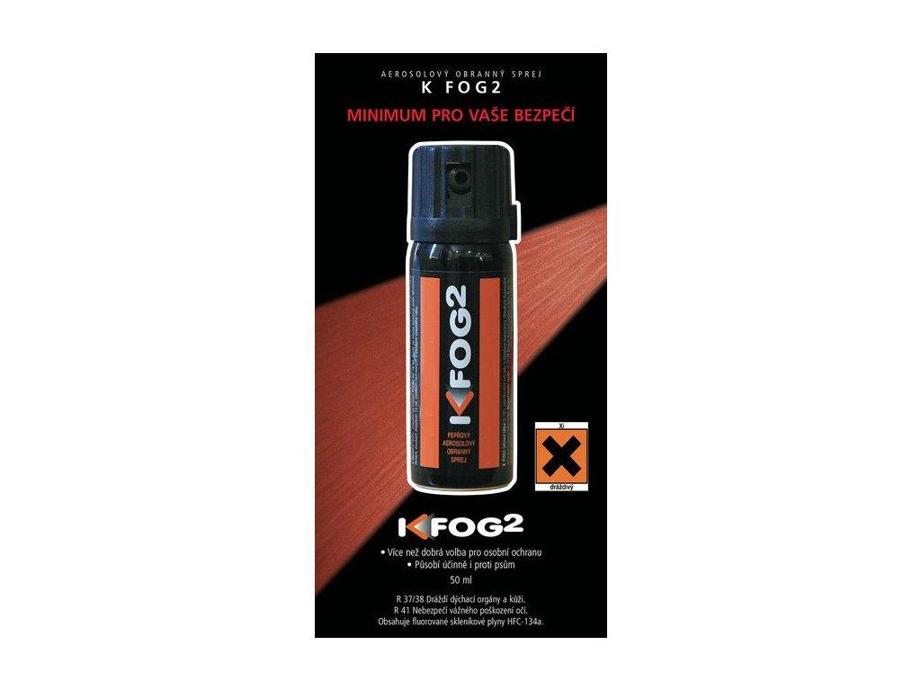 Pepřový obranný sprej K-FOG2 aerosolový 50 ml