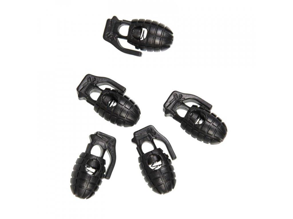 Brzdička na šňůrku MIL-TEC Granát 10ks Black