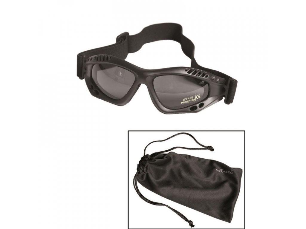 Brýle MIL-TEC Commando Air Black - kouřová skla
