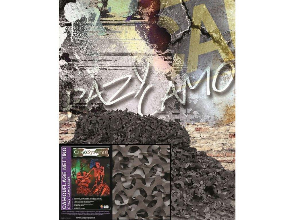 Maskovací síť MIL-TEC CRAZY CAMO 240 x 600 cm Night