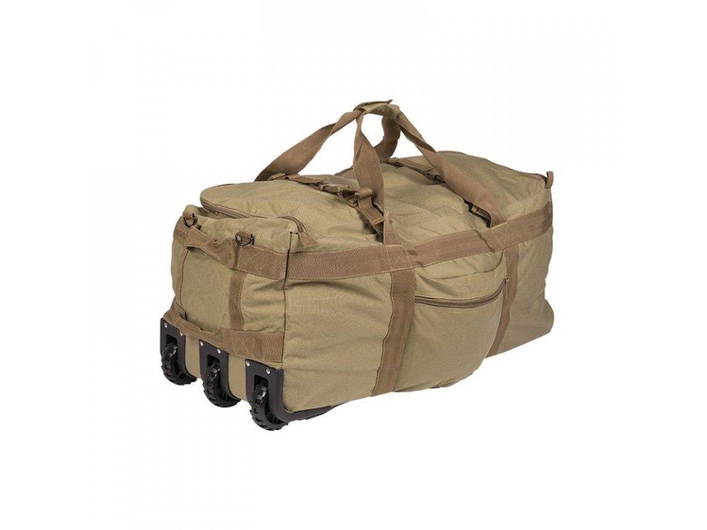 Bojový vak na výstroj s kolečky MIL-TEC 118l Coyote
