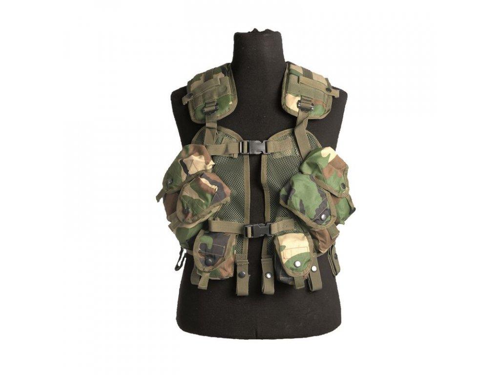 Taktická vesta MIL-TEC US Load Bearing Woodland