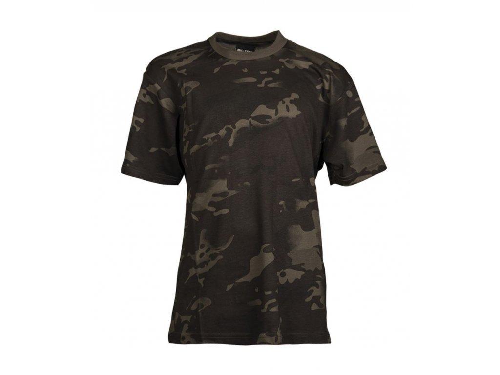 Tričko dětské MIL TEC krátký rukáv Multitarn Black