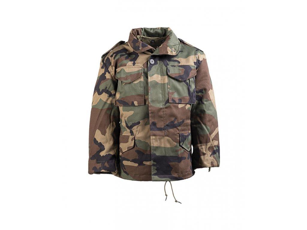 Kabát dětský MIL TEC M65 s vložkou Woodland