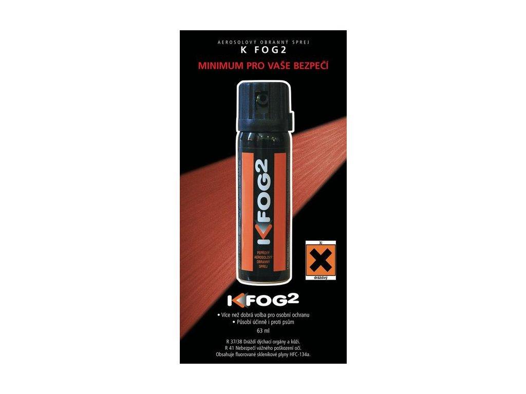 Pepřový obranný sprej K-FOG2 aerosolový 63 ml