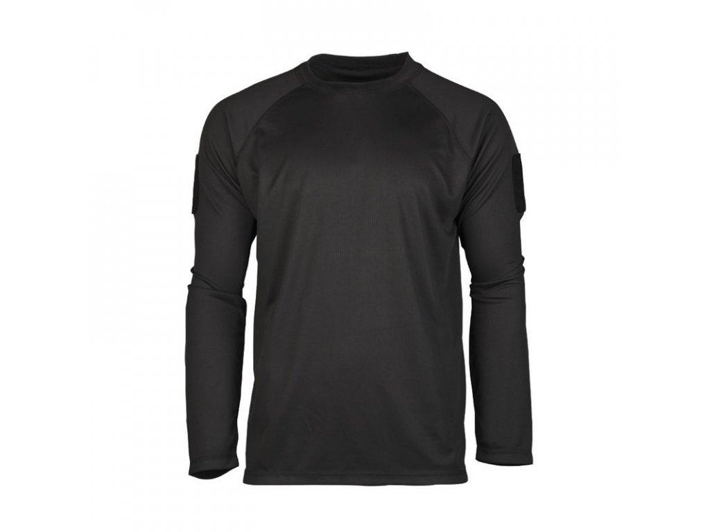 Tričko MIL-TEC Tactical rychleschnoucí Black