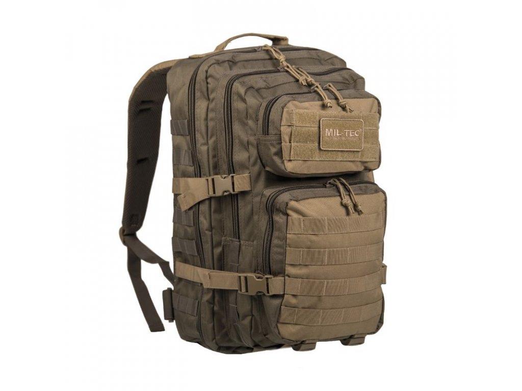 Batoh MIL-TEC US Assault 36l Green/Coyote