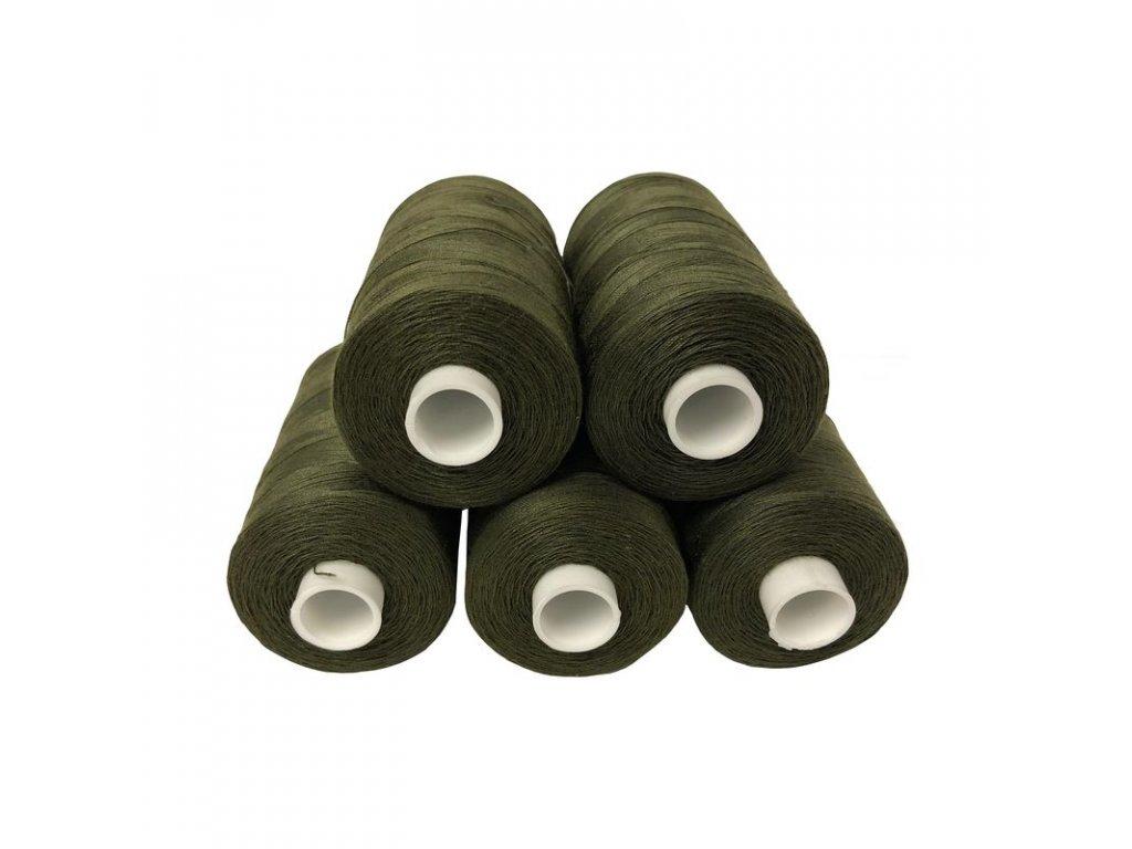 Armádní nit ČSLA zelená - set 5 špulek