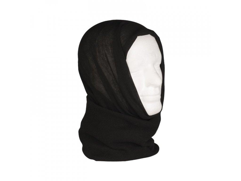 Multifunkční šátek MIL-TEC FLEECE Black