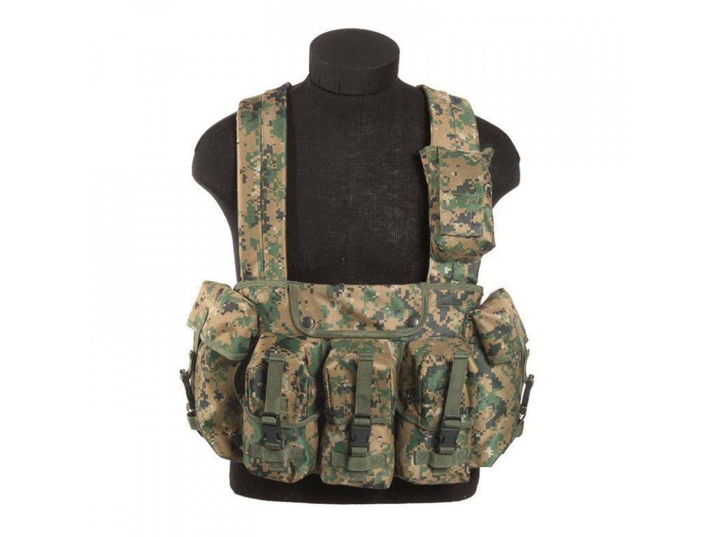 "Taktická vesta MIL-TEC ""bandalír"" 6 kapes Digital woodland"