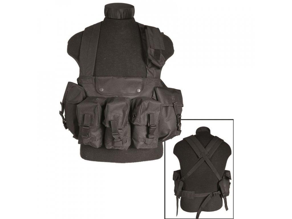 """Taktická vesta """"bandalír"""" 6 kapes Black"""
