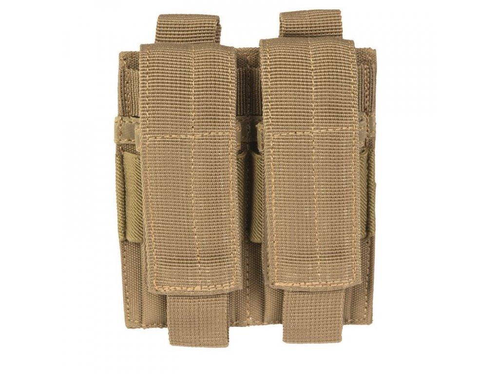 Sumka MIL-TEC na pistolové zásobníky dvojitá MOLLE Coyote