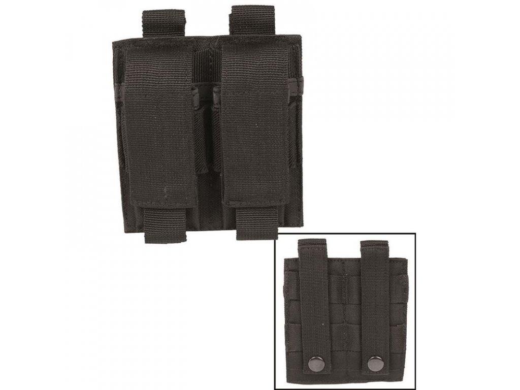 Sumka MIL-TEC na pistolové zásobníky dvojitá MOLLE Black
