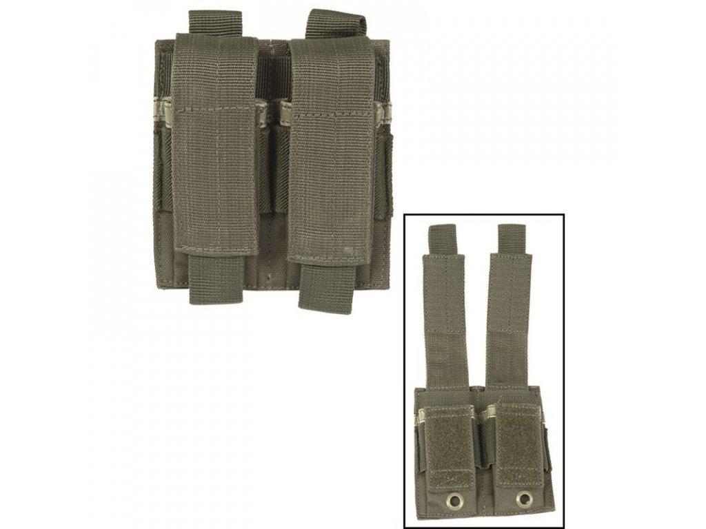 Sumka MIL-TEC na pistolové zásobníky dvojitá MOLLE Olive