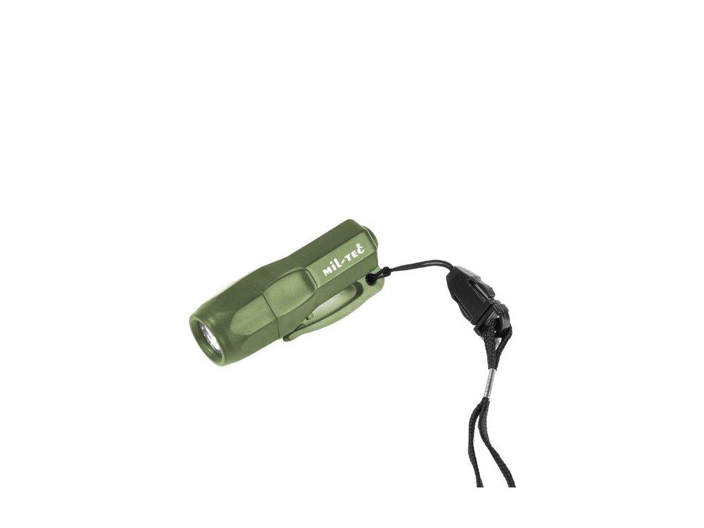 Svítilna MIL-TEC Mini Rescue 3 LED Olive