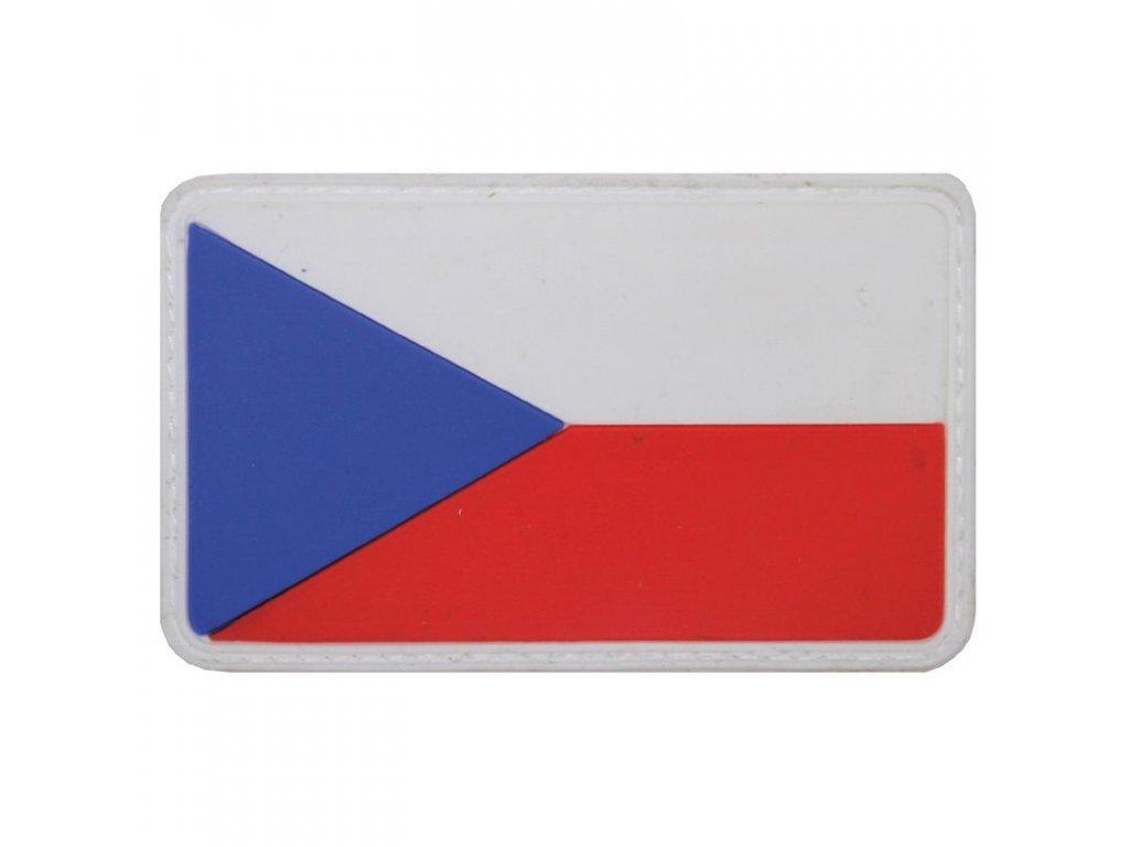 Nášivka Max-Fuchs 3D vlajka ČR barevná Velcro 8 x 5 cm