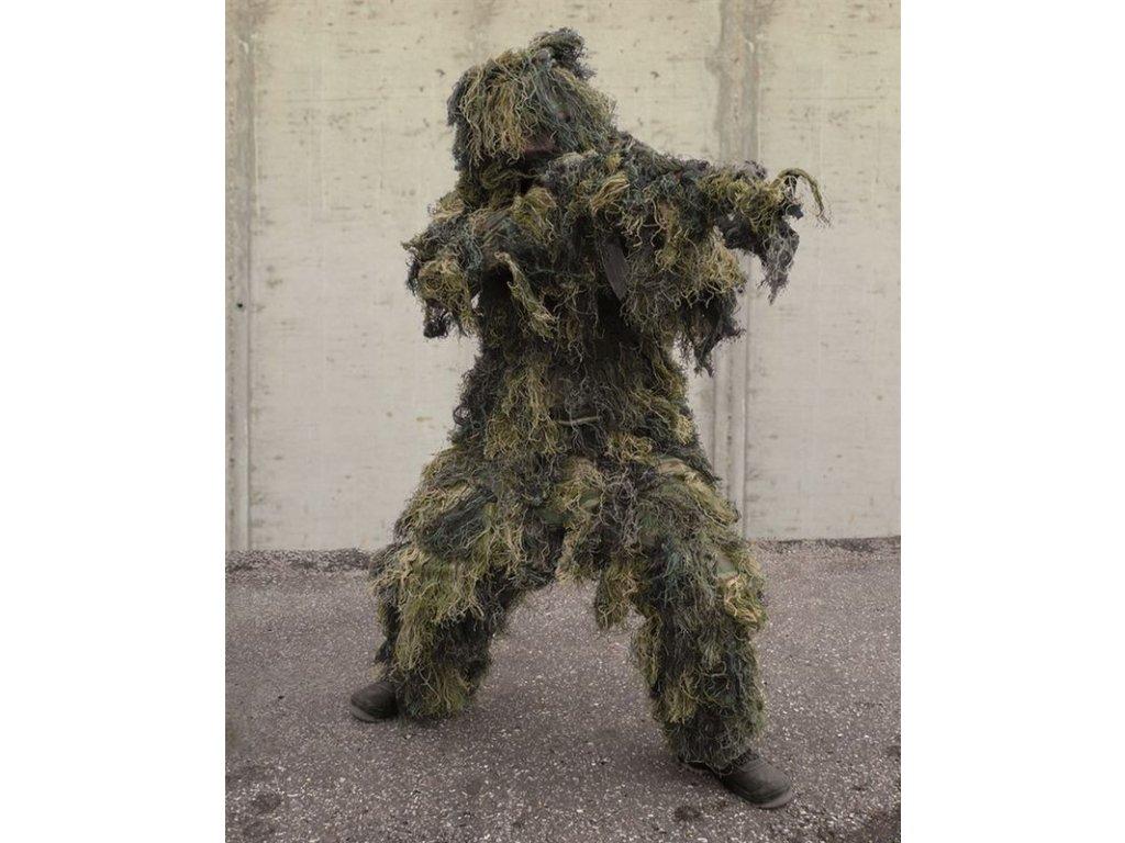 Maskovací oblek MIL-TEC Ghillie nehořlavý Woodland