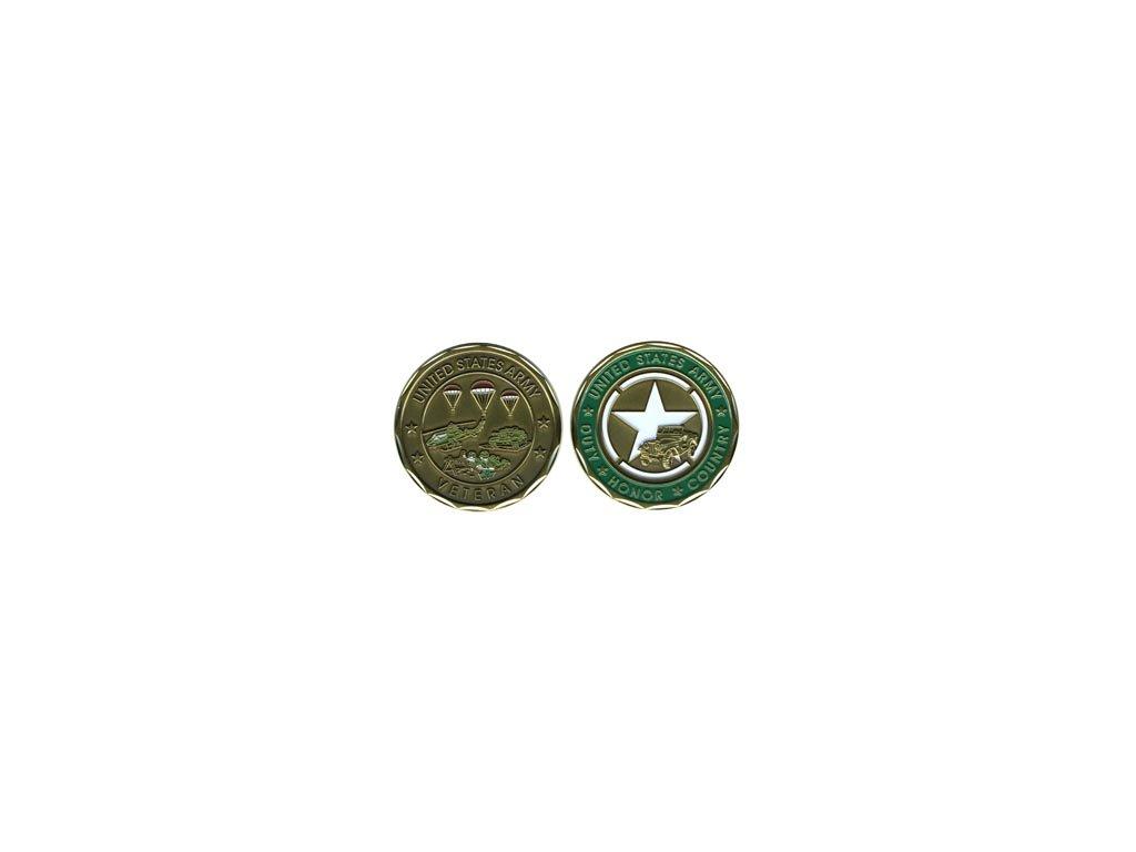 Pamětní mince E.C. US Army Veteran
