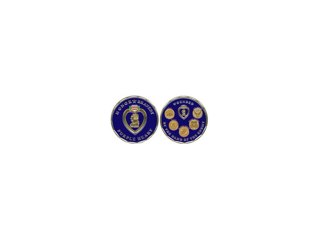 Pamětní mince E.C. Purple Heart