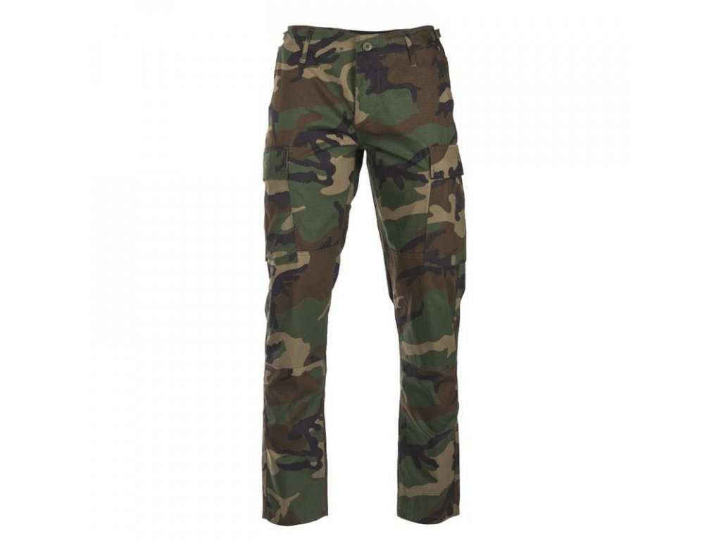 Kalhoty MIL-TEC BDU SLIM FIT Woodland
