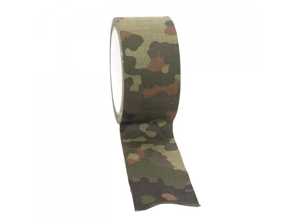 Textilní lepící páska MIL-TEC Flecktarn 10M