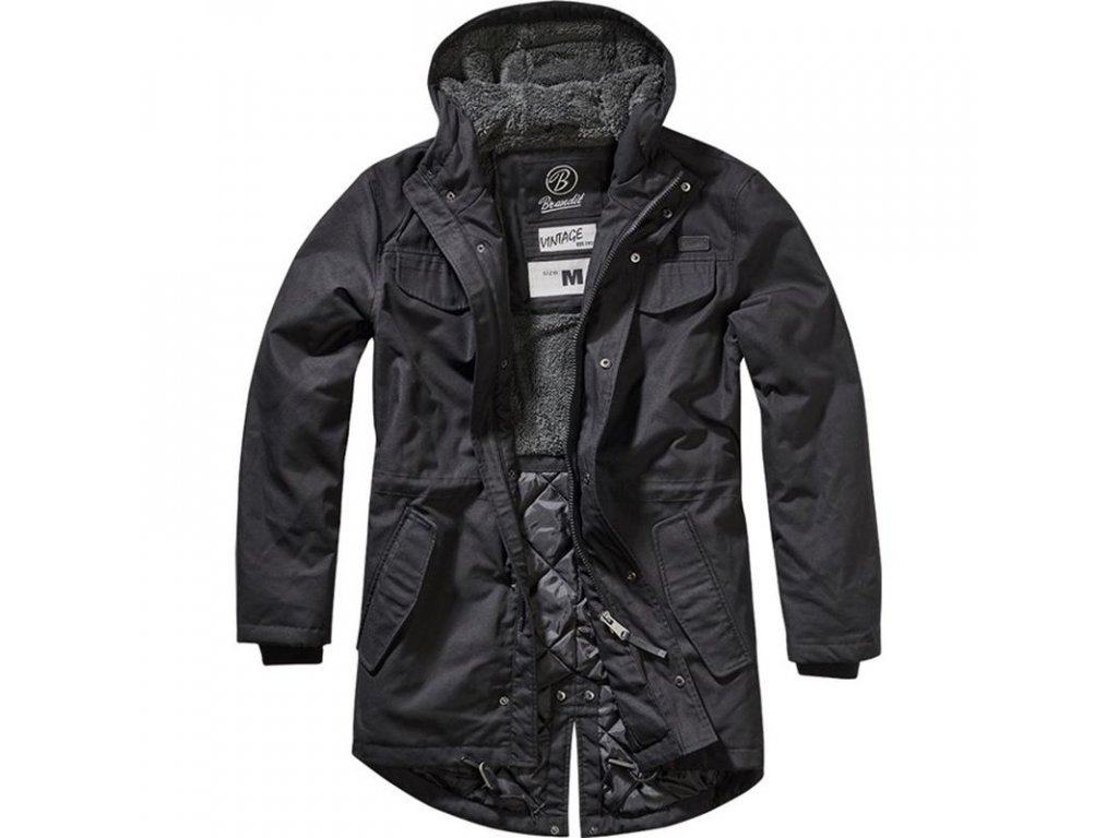 Kabát Brandit Parka MARSH LAKE Black