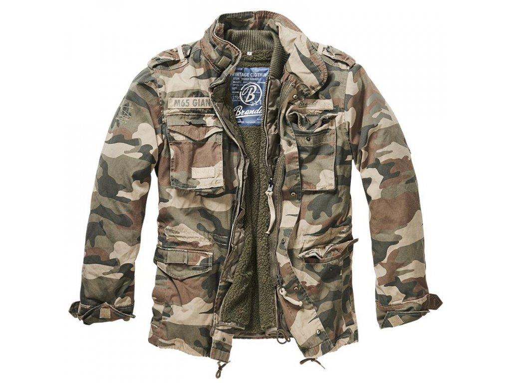 Kabát Brandit M65 VINTAGE GIANT Woodland
