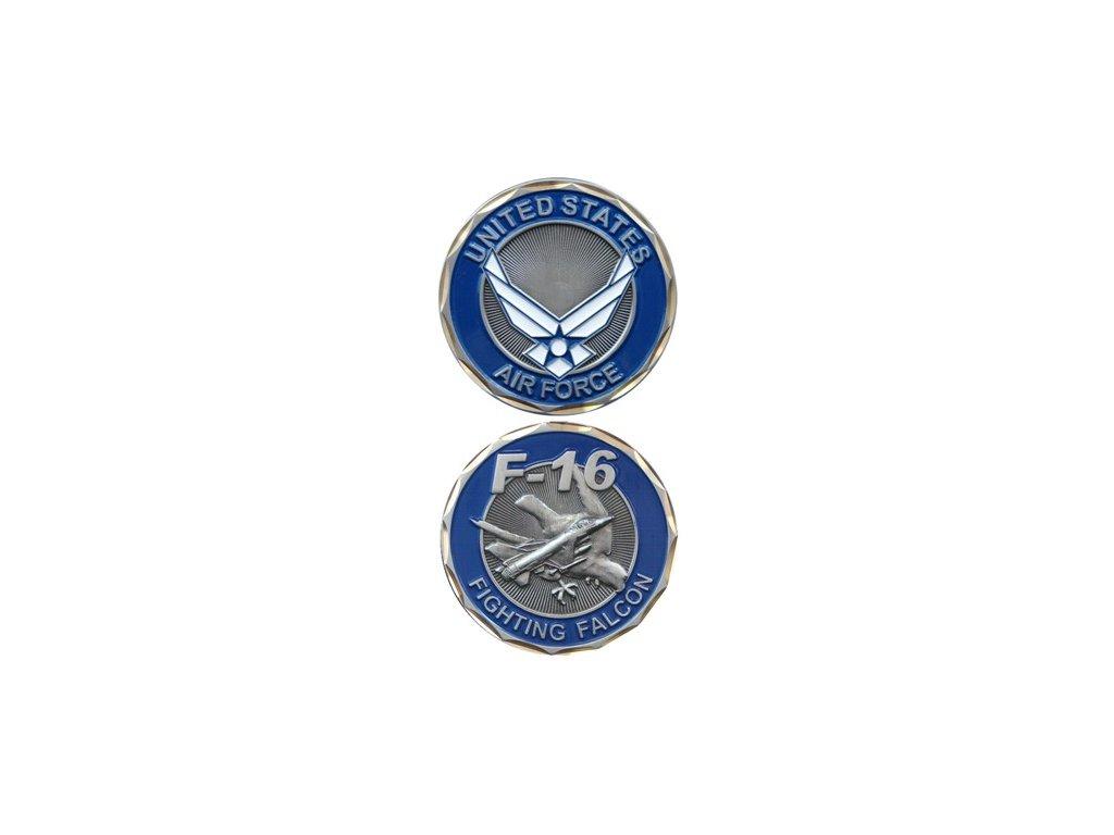 Pamětní mince E.C. Air Force F-16