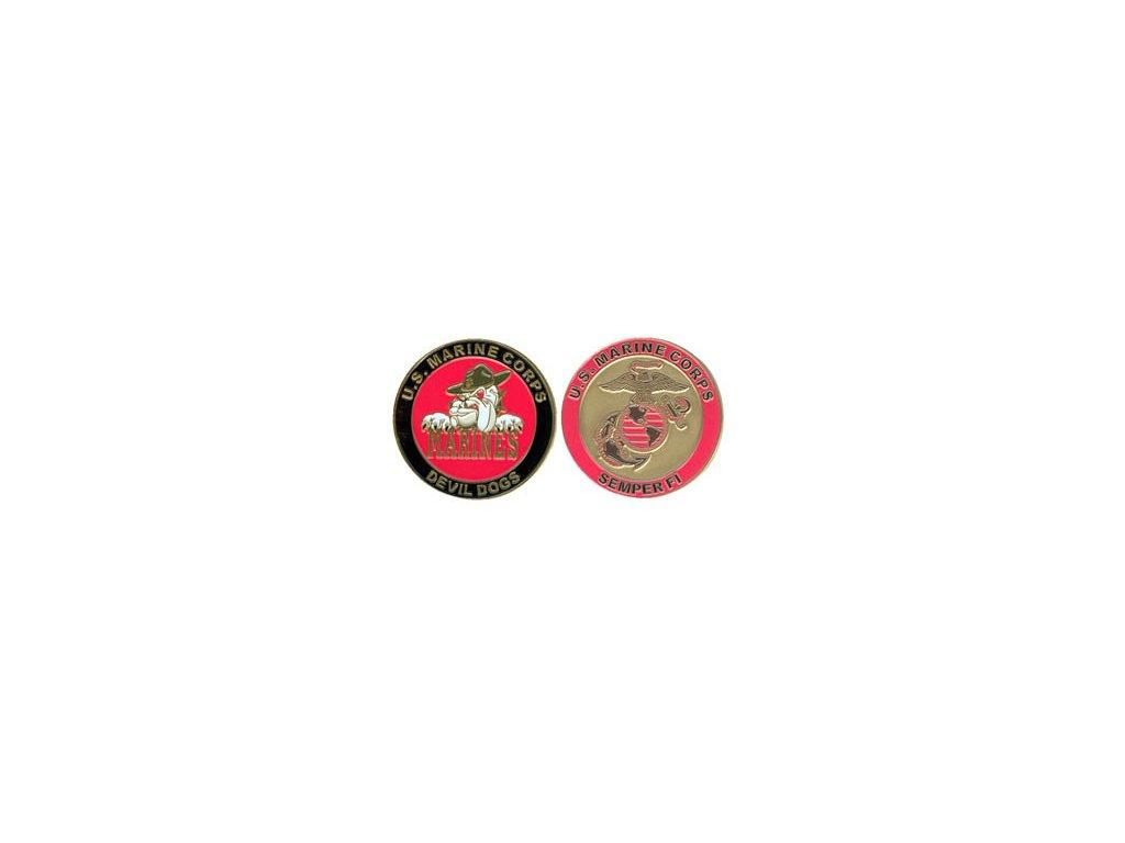Pamětní mince E.C. Devil Dog Marines